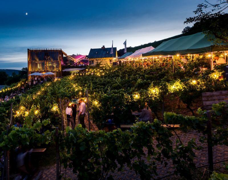 Weinfest Wein am Stein in der Dämmerung © Stefan Bausewein